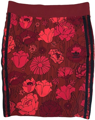 adidas Red Cotton Skirt for Women