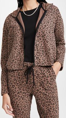 BB Dakota Purr Favor Leopard Print French Terry Jacket