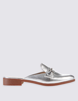 M&S Collection Block Heel Trimmed Mule Shoes