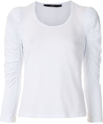 Eva Ruched Sleeves Top