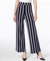 INC International Concepts Striped Wide-Leg Pants, Only at Macy's