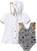 Baby Buns Happy Hearts Striped One-Piece   Coverup Set (Baby Girls 3- fed118b4b