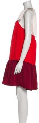 Paper London Crew Neck Mini Dress Red Crew Neck Mini Dress