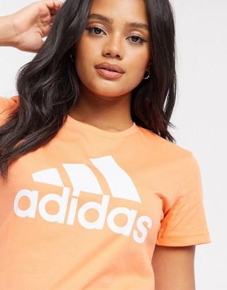 adidas logo Badge of Sport t-shirt in amber tint