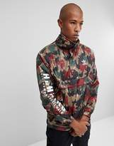 Adidas Originals X Pharrell Williams Hu Hiking Half Zip Windbreaker In Camo Print Cy7871