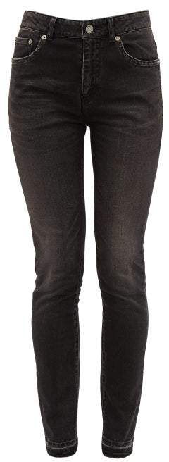 72391ce002 Distressed Cotton Blend Skinny Jeans - Womens - Black