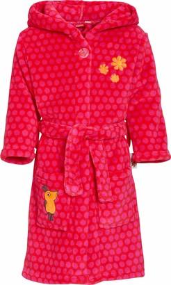 Playshoes Girl's Fleece-Bademantel DIE MAUS Pink Bathrobe 6-12 Months (Size:74/80)