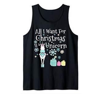 Funny Unicorn Christmas Design for Women or Girls Tank Top