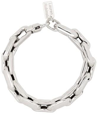 LAUREN RUBINSKI 14kt White Gold Chain-Link Bracelet
