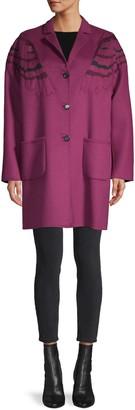 Valentino Owl Wool & Cashmere-Blend Coat