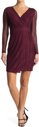 GUESS Sheer Sleeve Lace Dress
