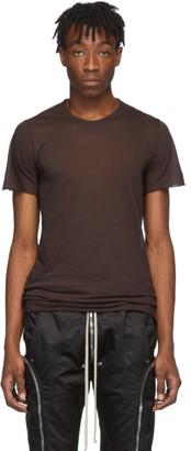 Rick Owens Burgundy Basic T-Shirt