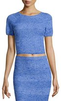 Alice + Olivia Solange Wool Crop Top, Blue