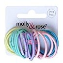 Set of 20 Pastel Thin Mini Endless Hair Elastics Bobbles Bands by Pritties Accessories