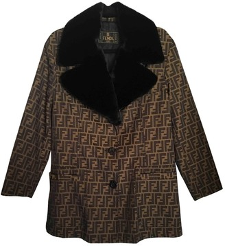 Fendi Brown Coat for Women Vintage