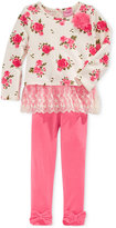 Nannette Baby Girls' 2-Pc. Floral-Print Tunic & Bow-Detail Leggings Set