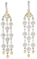 Judith Ripka White Sapphire Chandelier Earrings