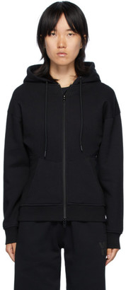 alexanderwang.t Black Sculpted Zip-Up Hoodie