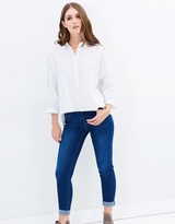 Whistles Kirsty Lace Trim Shirt