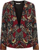 Alice + Olivia Orion embellished silk jacket