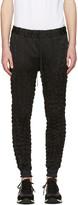 Issey Miyake Black Wrinkled Trousers