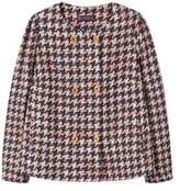 Violeta BY MANGO Houndstooth linen-blend jacket