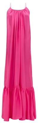 Kalita Brigitte Habotai-silk Maxi Dress - Womens - Pink