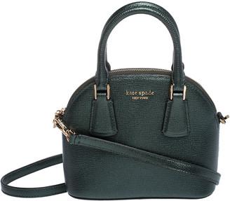 Kate Spade Metallic Green Leather Small Lottie Crossbody Bag