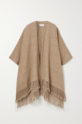 LAUREN MANOOGIAN Fringed Alpaca And Pima Cotton-blend Wrap - Camel