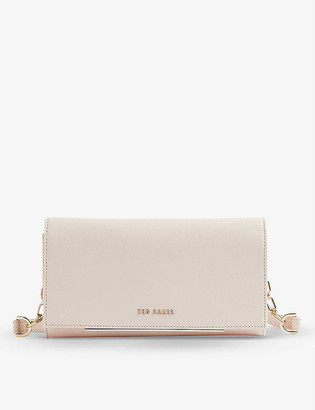 Ted Baker Logo-embossed leather cross-body purse
