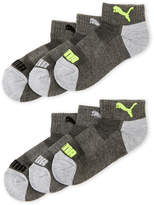 Puma Boys 4-7) 6-Pack Quarter-Cut Socks