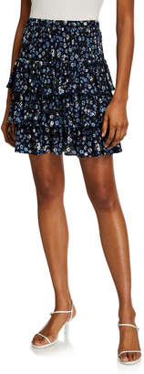 MICHAEL Michael Kors Garden Patch Tiered Mini Skirt