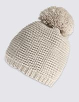 Marks and Spencer Wavy Stitch Bobble Hat