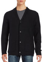 Selected Button Front Wool Cardigan