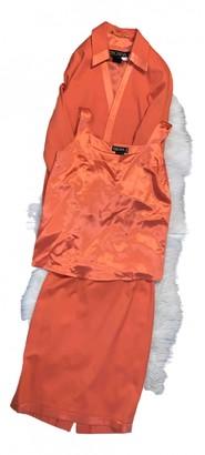 Escada Orange Silk Skirt for Women Vintage