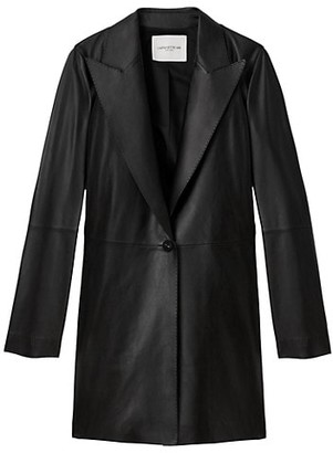 Lafayette 148 New York Kourt Leather Jacket