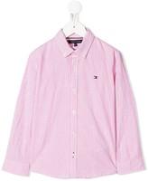Tommy Hilfiger Junior striped button-down shirt