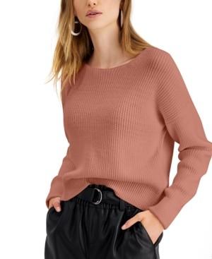 Bar III Zip-Back Sweater, Created for Macy's