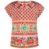 Dolce & Gabbana Dolce & GabbanaBaby Girls Carretto Rose Print Top