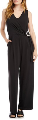 Karen Kane Wrap Front Sleeveless Jumpsuit