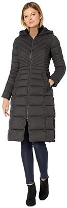 Bernardo Fashions EcoPlume Soft Touch Maxi Packable Puffer Parka (Black) Women's Jacket