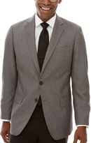 Claiborne Black White Neat Sport Coat - Classic Fit