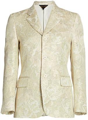 Comme des Garcons Flower Jacquard Jacket