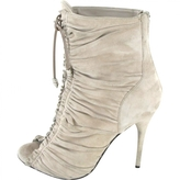 Balmain Beige Suede Ankle boots