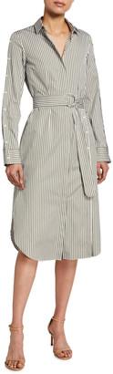Akris Punto Striped Poplin Shirtdress