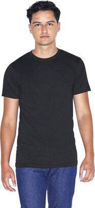 American Apparel mens 50/50 Crewneck Short Sleeve T-shirt - Usa Collection T Shirt