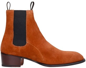 Giuseppe Zanotti Abbey Ankle Boots In Brown Suede