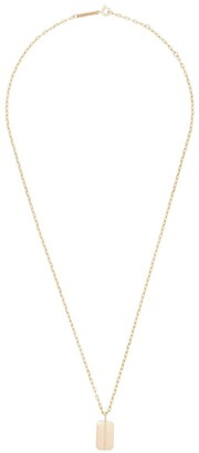 Zoë Chicco 14kt Yellow Gold Dog Tag Necklace
