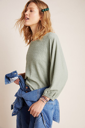 Anthropologie Arya Textured Top By in Black Size XS