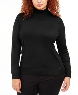 Calvin Klein Size Solid Turtleneck Sweater